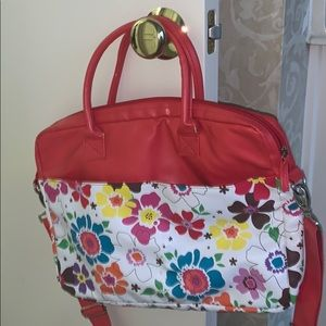 LIKE NEW FUNCTIONAL BAG RED & FLORAL